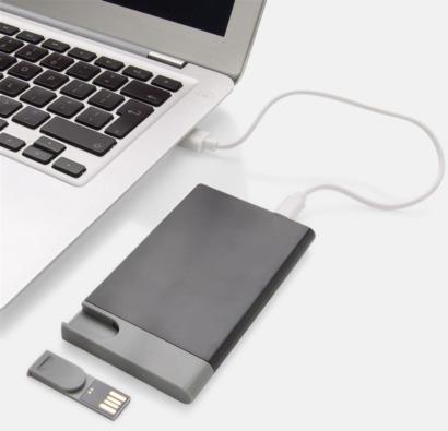 Extraladdare med USB-minne - med reklamtryck
