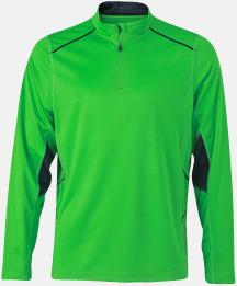 Grön/Steel Gray (herr) Herr- & damfunktionströjor med reklamtryck