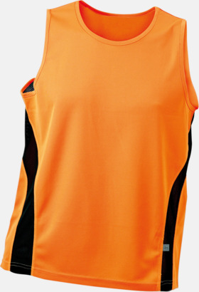 Orange/Svart (herr) Funktionslinnen i herr- och dammodell med reklamtryck