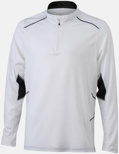 Vit/Svart (herr) Herr- & damfunktionströjor med reklamtryck