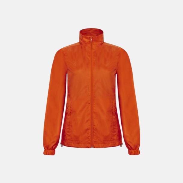 Orange (dam) Lättviktsjacka med thermofoder - med reklamtryck