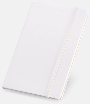 Vit Anteckningsböcker med linjerade sidor - med reklamtryck