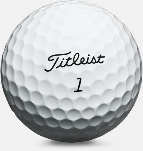 Vit Titleist Pro V1 - golfbollar med tryck