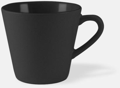 Svart Vackra kaffemuggar med reklamtryck