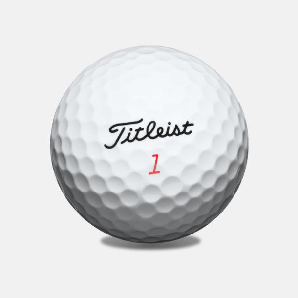 Vit Titleist DT TruSoft golfbollar med reklamtryck