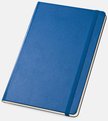 Blå Anteckningsböcker med linjerade sidor - med reklamtryck