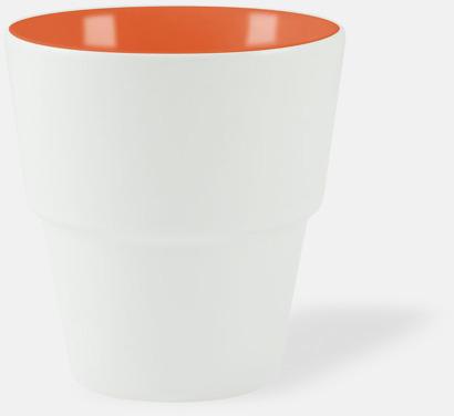 Vit / Orange 23 cl muggar med reklamtryck