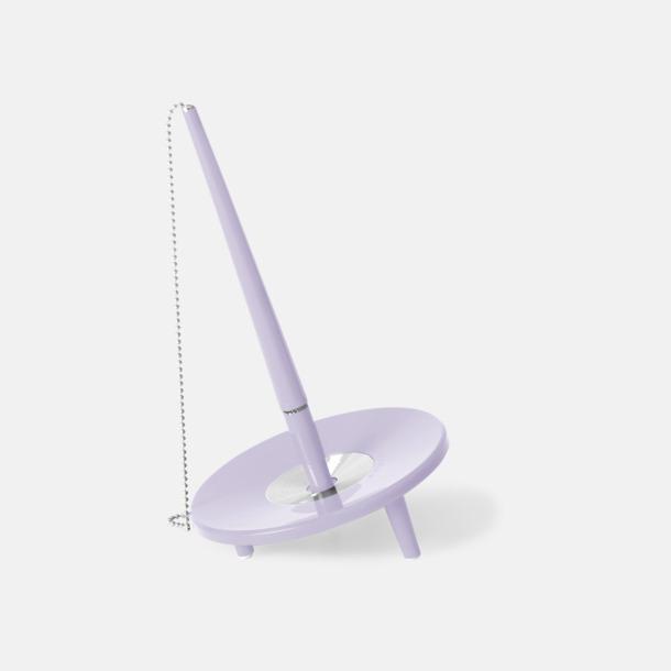 Lavendel Retro kulspetspenna med ställ med eget tryck