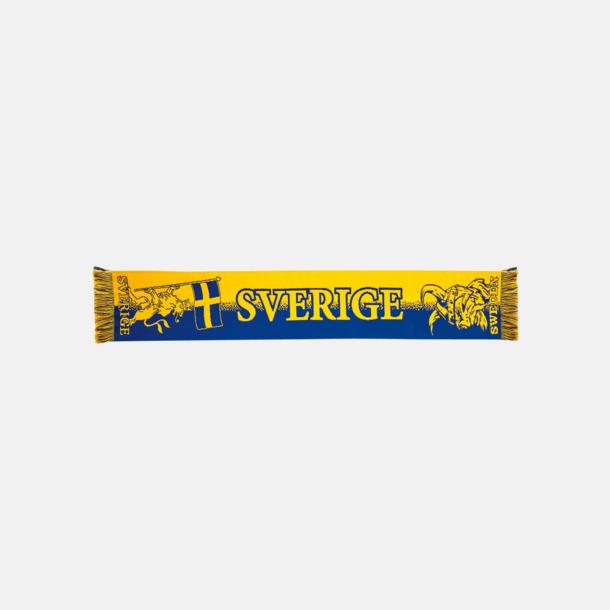 Sverigemönstrad Vävda halsdukar med egen brodyr