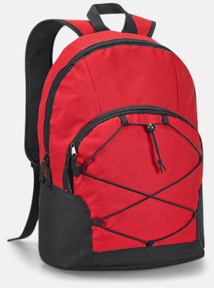 """Röd 15,6""""-laptopryggsäckar med reklamtryck"""