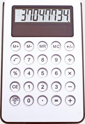 Svart Miniräknare med reklamtryck