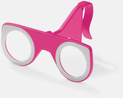 Rosa Färgglada VR-glasögon med reklamtryck