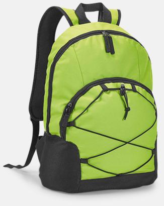 """Ljusgrön 15,6""""-laptopryggsäckar med reklamtryck"""