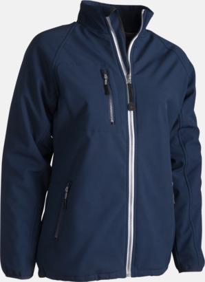 Marinblå (herr) Vadderade softshell jackor med reklamtryck