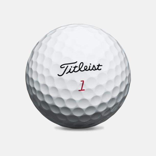 Vit Titleist Pro V1 X - logobollar med eget tryck