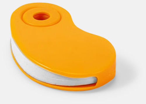 Orange Radergummin i fodral med reklamtryck