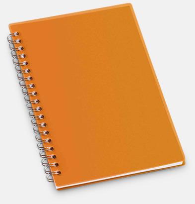 Orange Små spiralblock med reklamtryck
