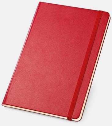 Röd Anteckningsböcker med linjerade sidor - med reklamtryck