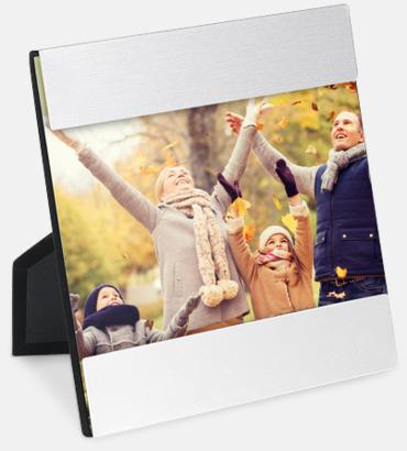 Silver Kvadratiska fotohållare med reklamlogo
