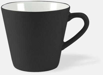 Svart / Vit Vackra kaffemuggar med reklamtryck