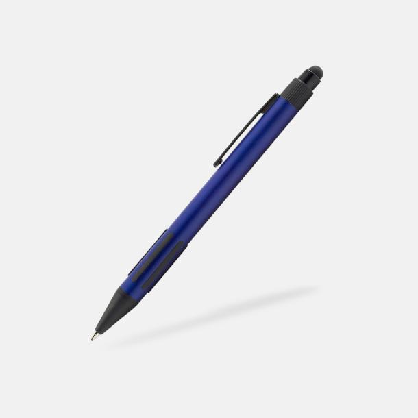 Blå Styluspennor i metall med reklamtryck