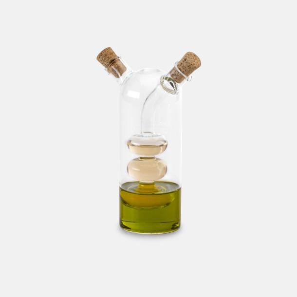 Transparent Glasflaskor för vinäger & olja - med reklamtryck