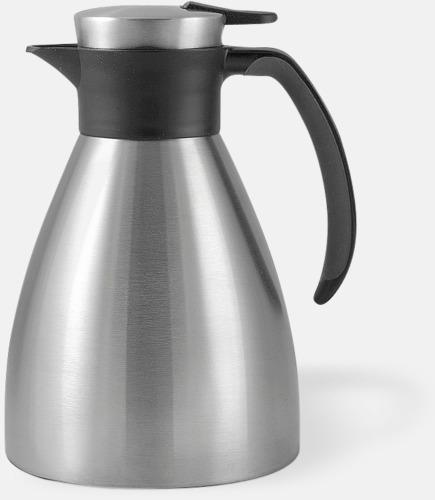 Silver 1 liters termoskannor med reklamtryck