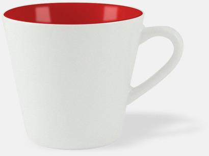 Vit / Röd Vackra kaffemuggar med reklamtryck