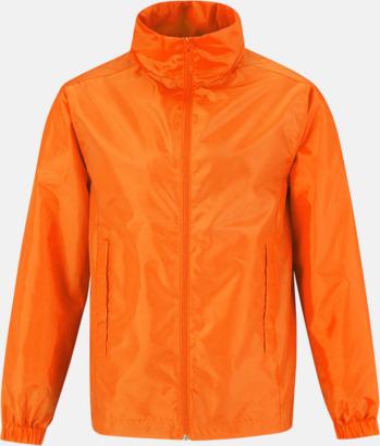 Orange (herr) Lättviktsjacka med thermofoder - med reklamtryck