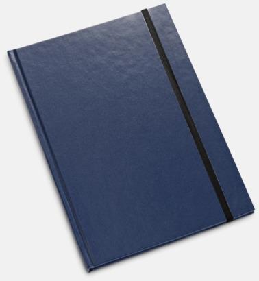 Mörkblå Anteckningsböcker i 2 storlekar med reklamtryck