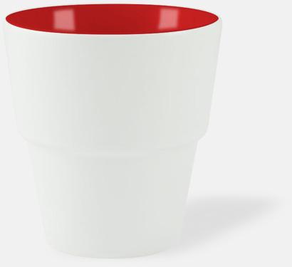 Vit / Röd 23 cl muggar med reklamtryck