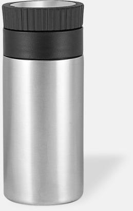 Silver Termosmugg med greppvänligt lock - med reklamtryck
