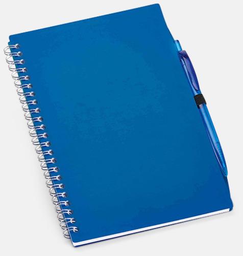 Blå Spiralblock med matchande penna - med reklamtryck