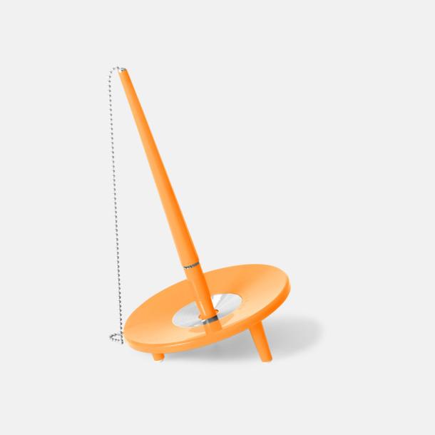 Orange Retro kulspetspenna med ställ med eget tryck