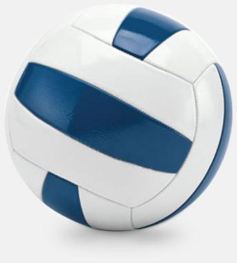 Vit / Blå Billigare volleybollar med reklamtryck