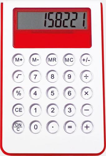 Röd Miniräknare med reklamtryck