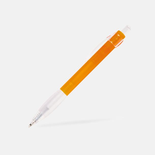 Orange Billig bläckpenna med vitt gummigrepp