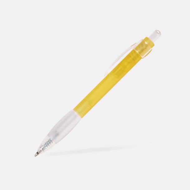 Gul Billig bläckpenna med vitt gummigrepp