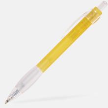 Billig bläckpenna med vitt gummigrepp