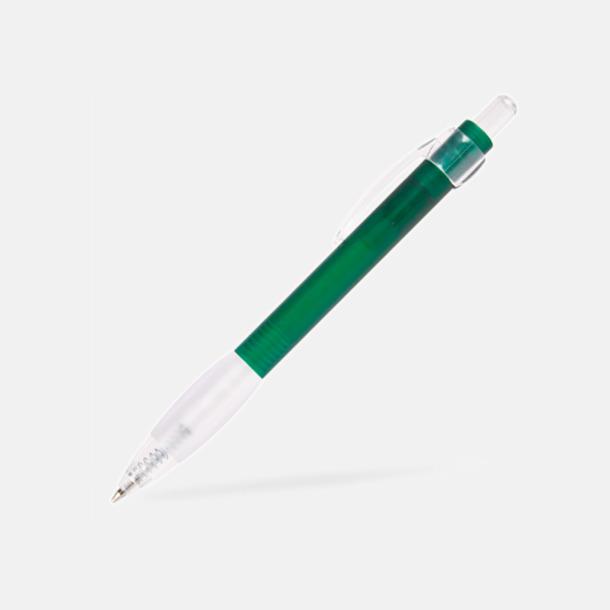 Grön Billig bläckpenna med vitt gummigrepp