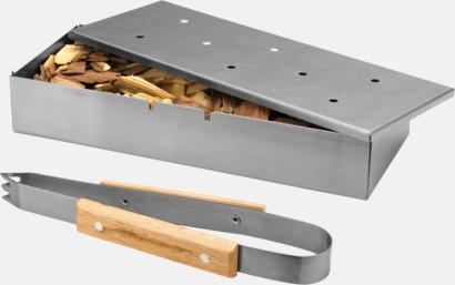 Silver / Ljust trä Röklådor för grillen med reklamlogo