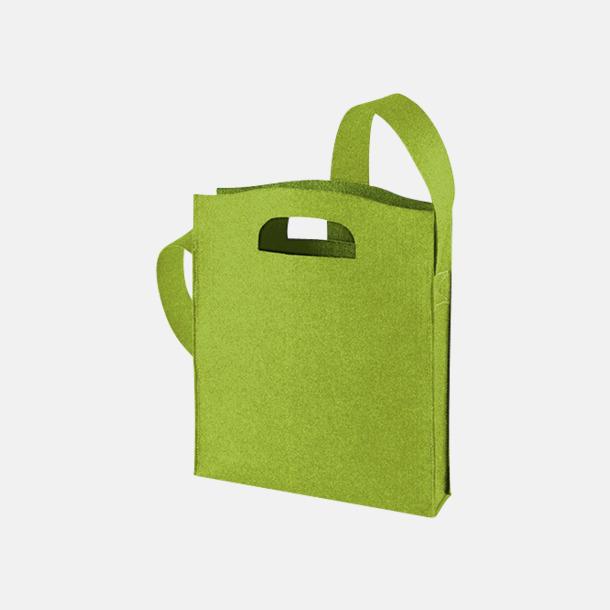 Ljusgrön Axelkassar i filt med reklambrodyr