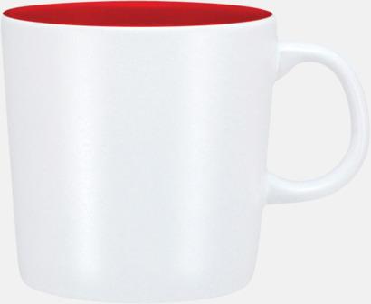 Vit (matt)/Röd Enea-muggen i större format med reklamtryck