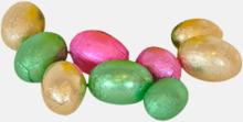 Folieklädda chokladägg i lösvikt