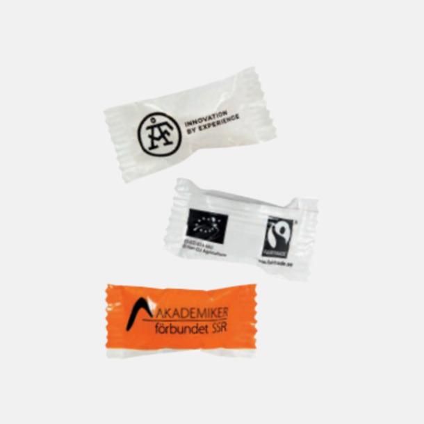 Ekologiska karameller & Fairtrade i flera varianter med reklamtryck