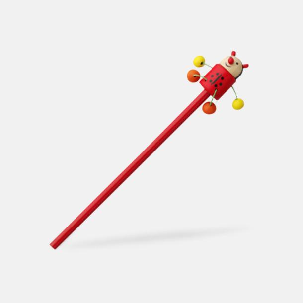 Nyckelpiga Blyertspennor med djurmotiv - med reklamtryck