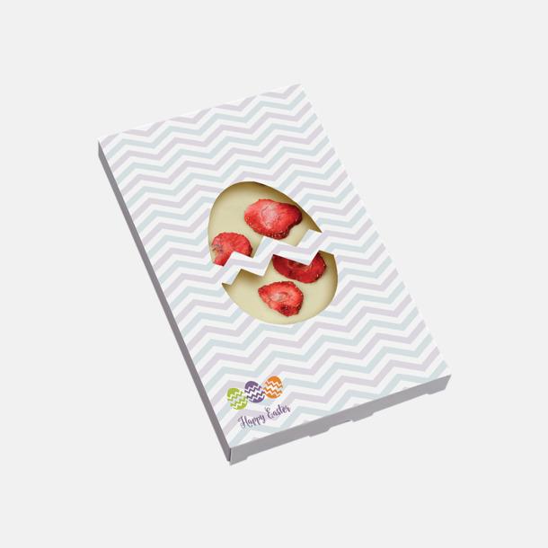 Jordgubb (påsk) Lyxiga chokladkakor i många smaker med reklamtryck
