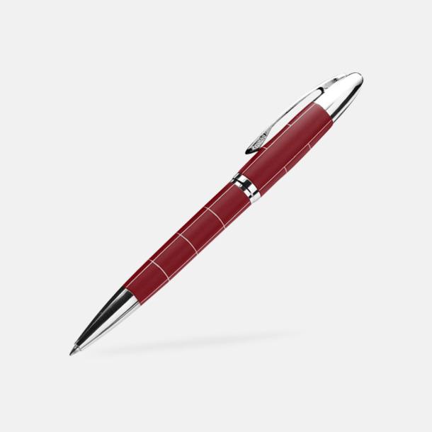 Mörkröd Mönstrat pennset med refil - med reklamtryck