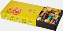 Ask med påsktema fyllt med inslaget godis - med reklamtryck