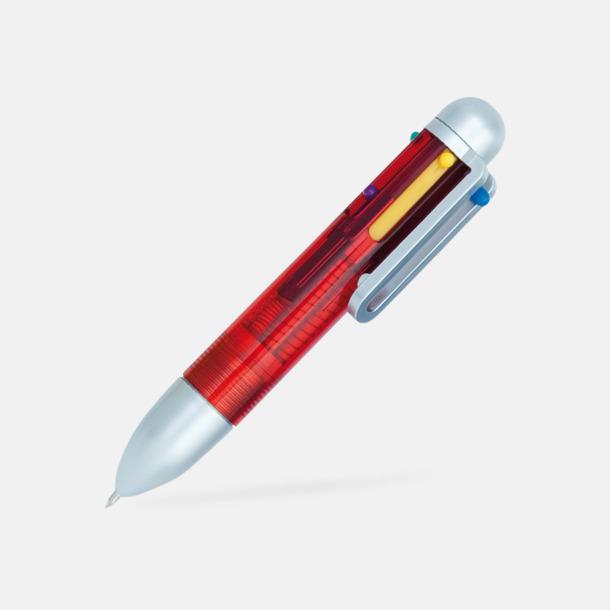 Röd Minipenna med 6 färger - med reklamtryck